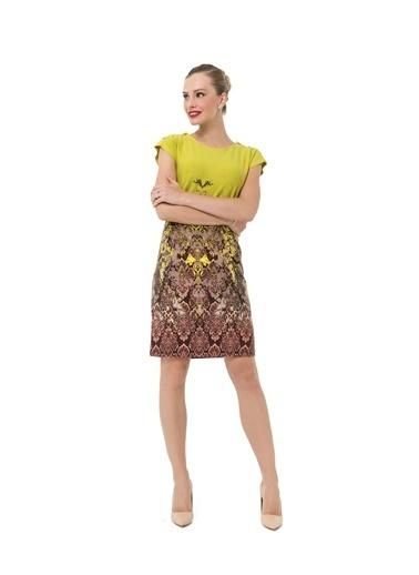 Accouchée Kolay Emzirme Özellikli Elbise Renkli